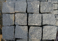 Natural Split Black Outdoor Paving Stones , Granite Grey Black Paving Stones