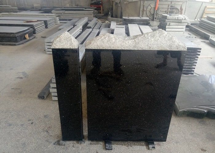 European Style Granite Memorial Headstones Black Galaxy / Other Color