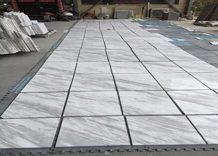 Smooth Surface Natural Marble Tile 80 - 90 Polished Degree High Hardness
