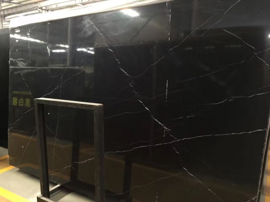 Nero Marquina Polished Natural Marble Tile Bathroom Marble Shower Floor Tile