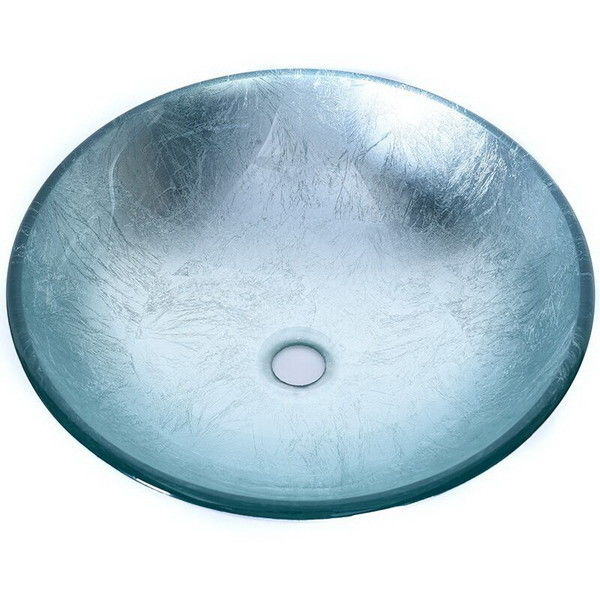 Artificial Glass Type Wash Basin / Glass Basin Round Model Carton Packing