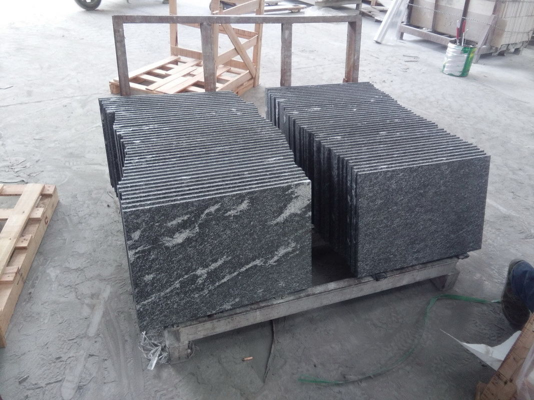 Black With Snow White Natural Stone Slabs Nero Biasca Granite Pavement Stone